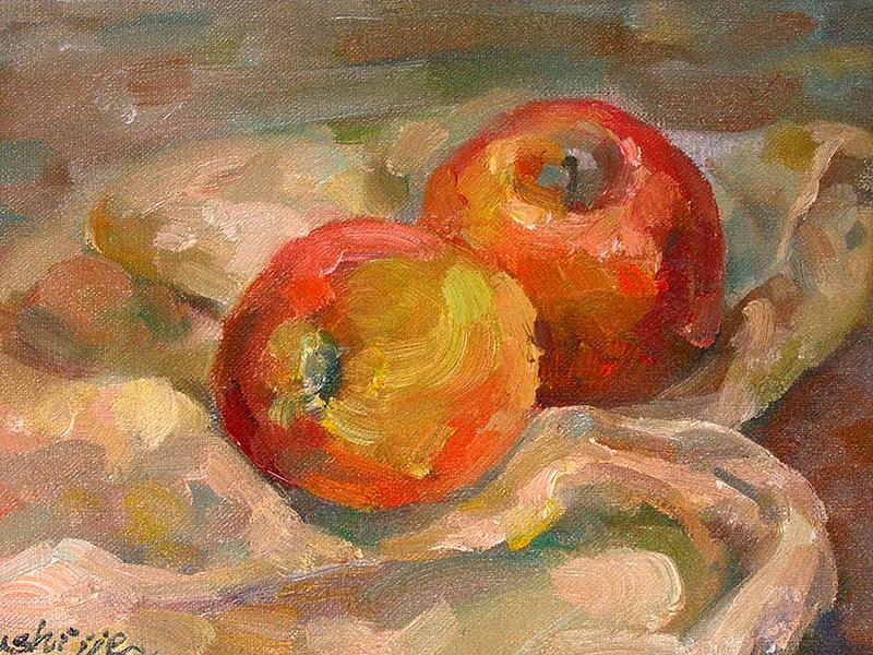 【油画】-苹果