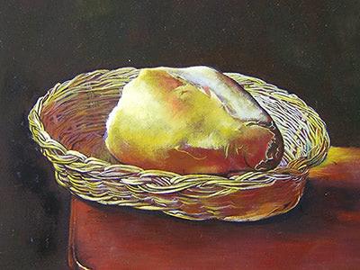 【油画】古典技法-面包