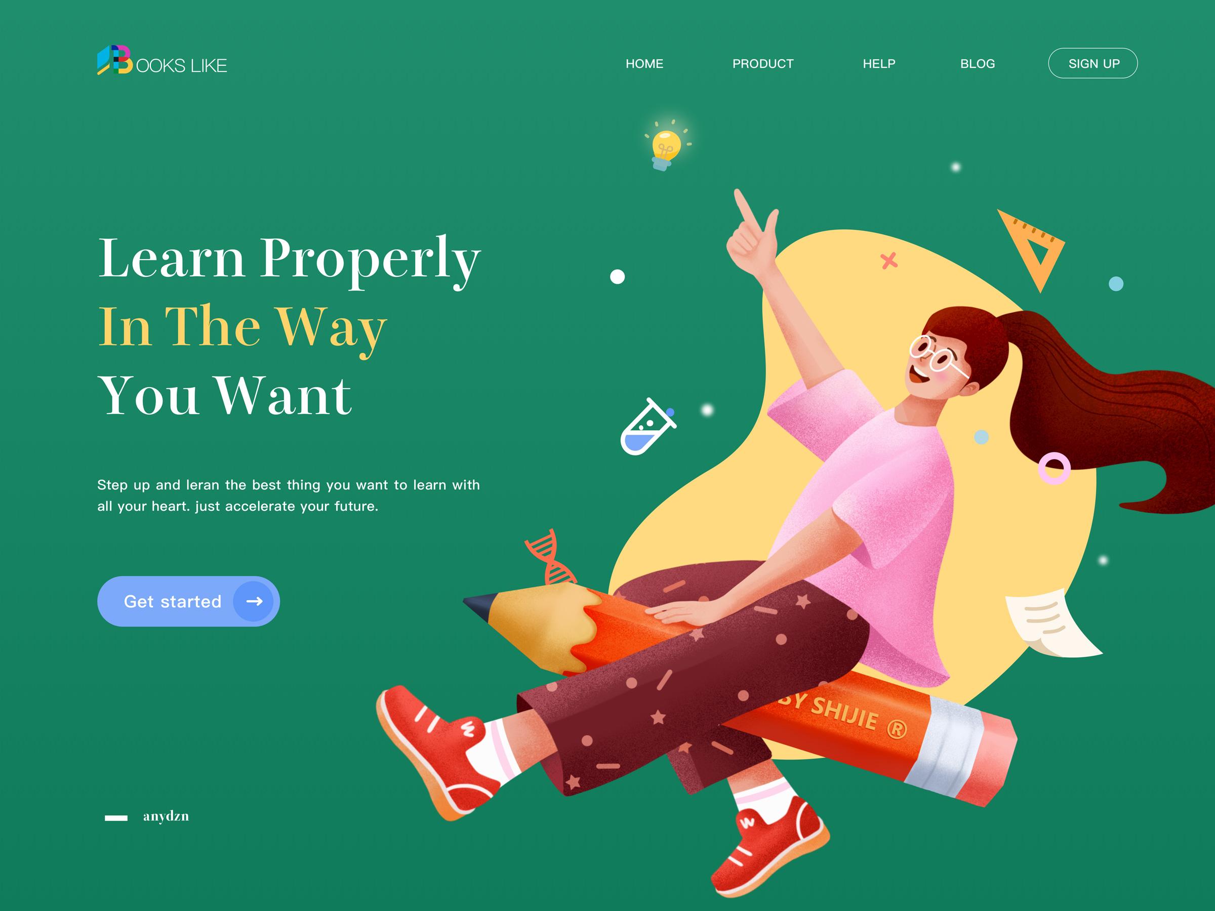 Online Education Webpage