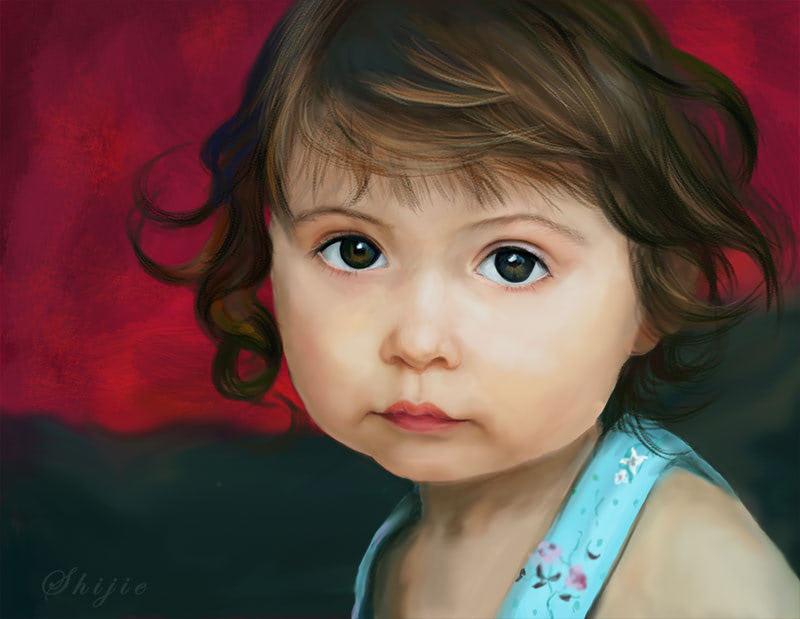 PS手绘可爱的女孩