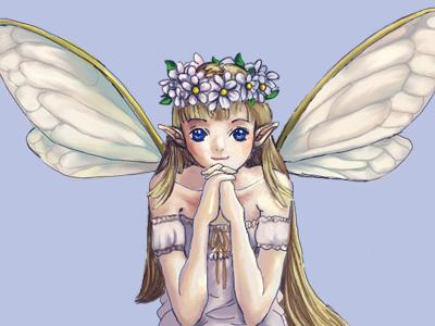 绘图板插画- 天使